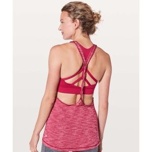 Lululemon Twist and Toil Tank Heathered Ruby Red